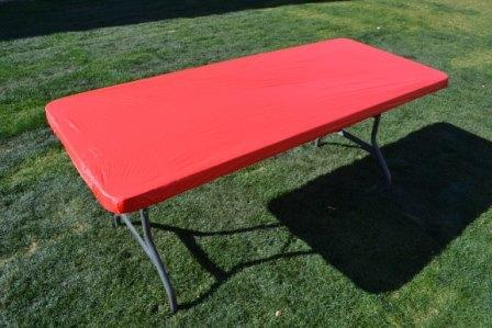 Kwik Table Covers- 8ft Red.