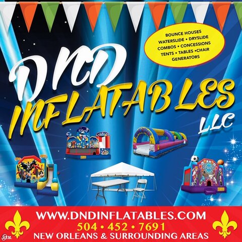 DND Inflatables, LLC spacewalk and waterslide rentals in New Orleans