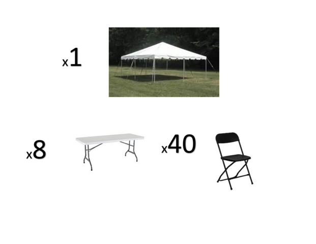 Tent, Table and Chair package 2