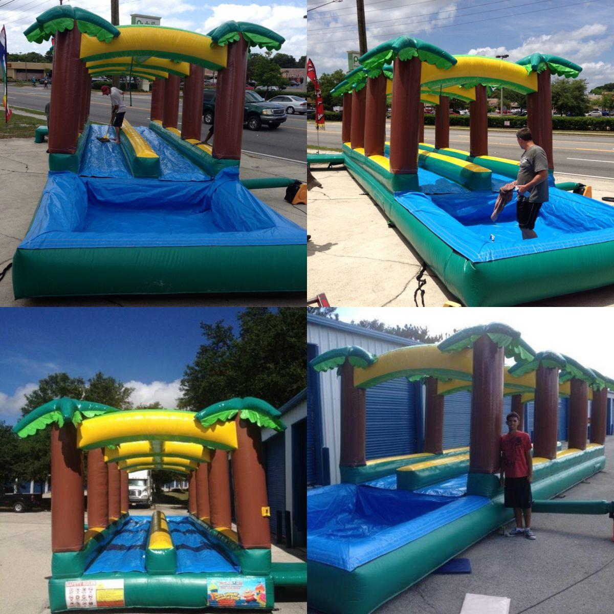 Inflatable Slide Rental Jacksonville Fl: 40FT Double Lane Slip N Slide