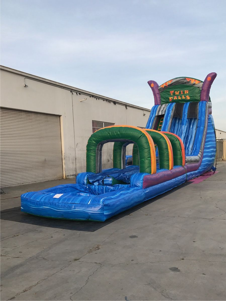 This Is Our 24 Foot Twin Falls Water Slide With A 30 Foot