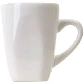 White Coffee Cup, 12 oz