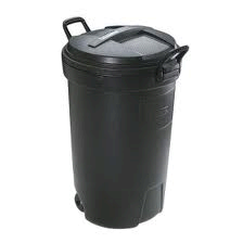 32 Gallon Garbage Can with lid