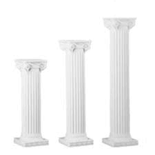 8' White Greek Pillar Column