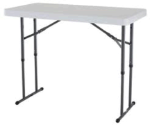 4' Rectangle Adjustable Height