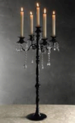 Black Candelabra with Hanging Crystals 32