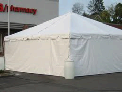 20' Section Tent Wall, Solid