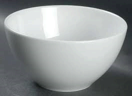 White Soup Bowl