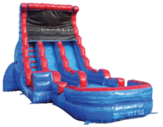 19ft WET Dual Lane Blue Wave Slide