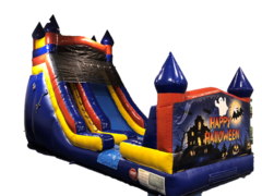 18ft Castle Slide- Halloween Banner