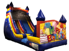 18ft Castle Slide- Birthday Banner