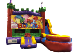 Castle Combo w/ Slide- Birthday Banner