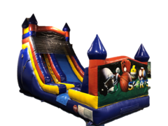 18ft Castle Slide- Sports Banner