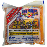 ALL-IN-ONE Pre-Packaged Popcorn Kits (serves 25-50)
