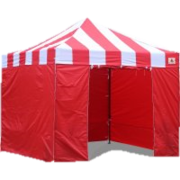 10x10 Carnival Stripe EZ-up Canopy RED