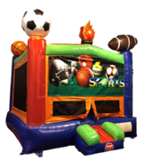 Bounce House - Sports with Banner