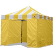 10x10 Carnival Stripe EZ-up Canopy YELLOW