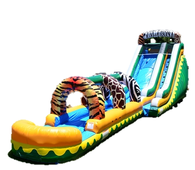 18ft WET Jungle/Zoo Slide with Slip and Slide