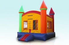 Deluxe Rainbow Castle with Basketball hoop