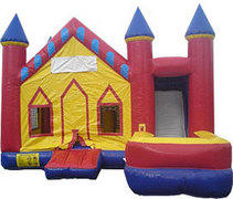 Castle 7 in 1 Combo Jump House with Water Slide WET