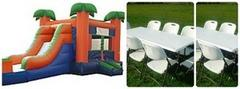Paradise WATER slide, 2 tables and 16 chairs