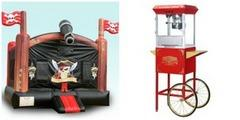 Deluxe Pirate Bounce House and Popcorn Machine