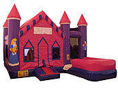 Princess 7 in 1 Castle Jumpy House Combo DRY