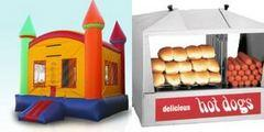 Deluxe Rainbow Castle and Hot Dog Steamer Machine