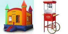 Deluxe Rainbow Castle and Popcorn Machine
