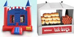 Deluxe American Castle and Hot Dog Steamer Machine