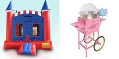 Deluxe American Castle and Cotton Candy Machine