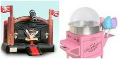 Deluxe Pirate Bounce House and Cotton Candy Machine