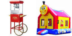 The Train Bounce House and Popcorn Machine