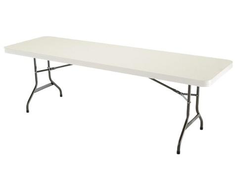 30 in. x 96 in. Rectangular Plastic Table
