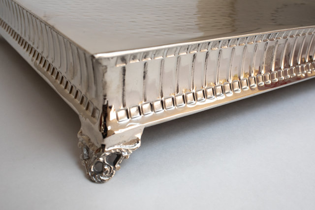 Hammered Silver Square Cake Stand