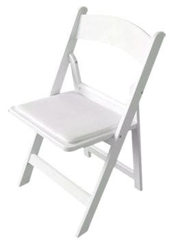 White Resin Wedding Chair