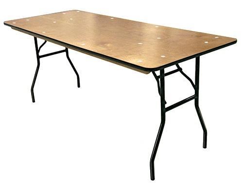 30 in x96 in. Rectangular Wood Table