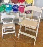Children's White Resin Folding Chair