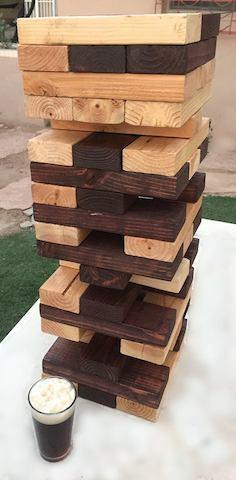 Jumbo Tumbling Tower block stacking game
