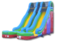 24 foot Tall Double Lane  Dry Slide