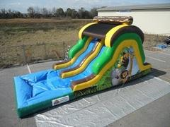 14 Foot Jungle Run Double Lane Slide