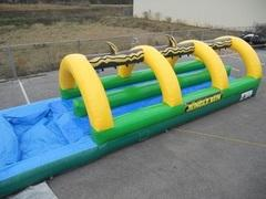 35 Foot Jungle Run Double Lane Slip and Slide