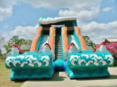 Double Lane Big Kahuna Water Slide