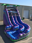 18 Foot Curvy Double Lane Purple Paradise Water Slide