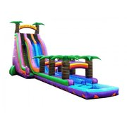24 Foot Double Lane Bermuda Blast Water Slide