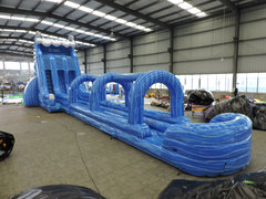 24' Dolphin Double Lane Water Slide with 35' Slip and Slide