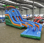 18' Tropical Thunder Double Lane Water Slide