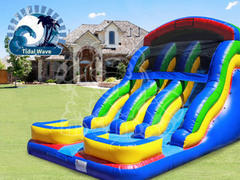 18 Ft Double Rush Dry Slide
