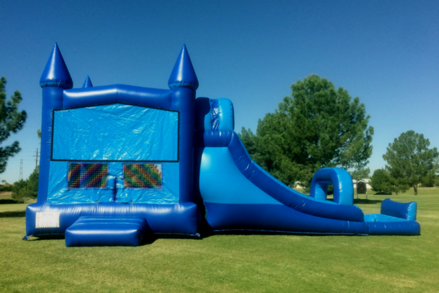 LARGE BLUE CASTLE COMBO WATER SLIDE