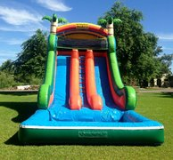 18 FT TALL DOUBLE WATER SLIDE